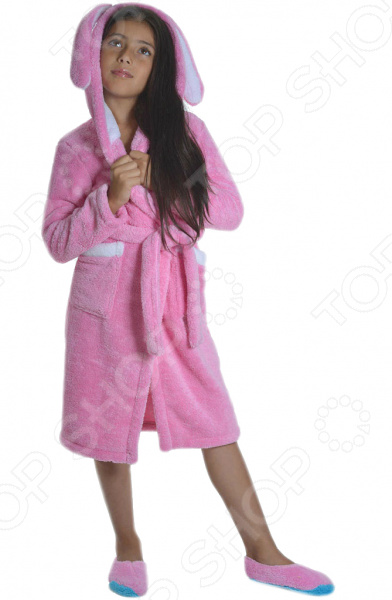 Халат для девочки Dream Time «Зайка». Цвет: розовый