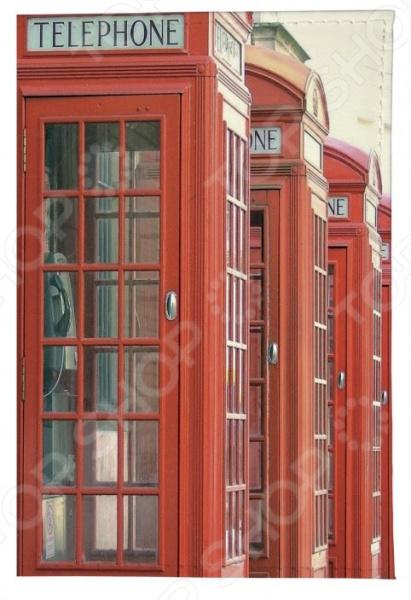 Обложка для паспорта кожаная Mitya Veselkov «Будка в Лондоне» обложка для автодокументов mitya veselkov будка в лондоне