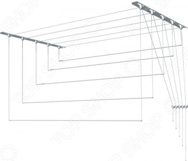 Сушилка потолочная для белья «Лиана». Материал крепления: пластик
