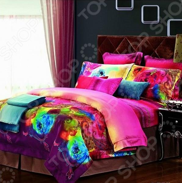 Комплект постельного белья «Акварель». 1,5-спальный для спальни