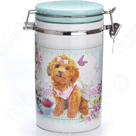 Банка для сыпучих продуктов Loraine «Собачки. Сладости» банка для сыпучих продуктов сладости 850 мл