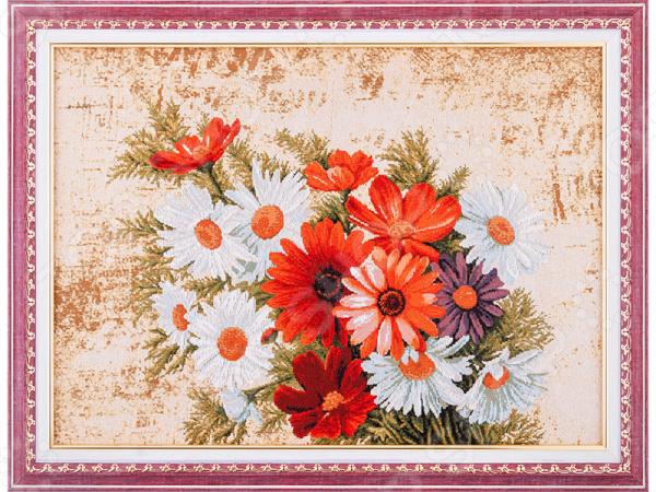 Картина гобеленовая «Герберы и ромашки» 404-105-08 картины сирень картина ромашки в поле