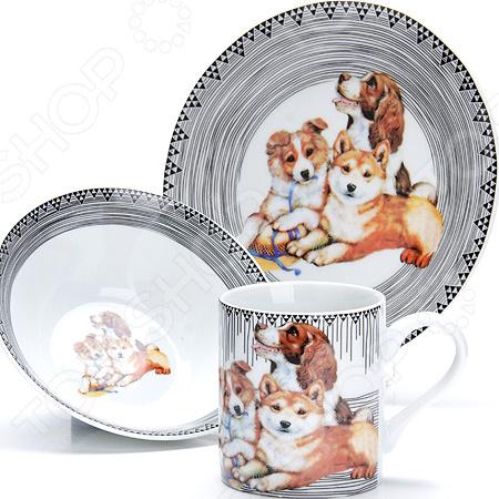 Набор посуды для детей Loraine LR-27122 «Собачка»