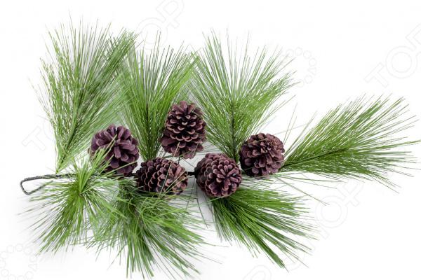 Новогоднее украшение Crystal Trees «Ветвь Кедра итальянского с шишками» ель новогодняя crystal trees 1 2 м триумфальная с шишками kp8612