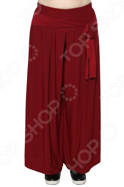 Юбка-брюки Лауме-Лайн «Высокая мода». Цвет: бордовый