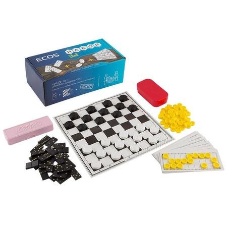 Купить Набор «3 в 1»: лото, шашки, домино