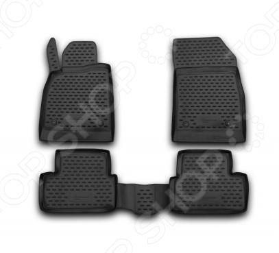 Комплект ковриков в салон автомобиля Novline-Autofamily Opel Astra J 5D 2009