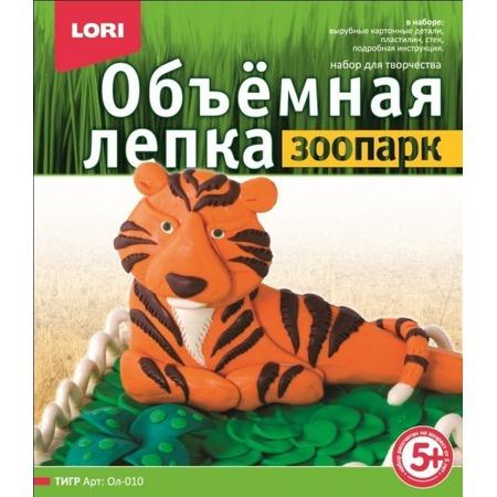 Купить Лепка из пластилина объемная Lori «Тигр» Ол-010