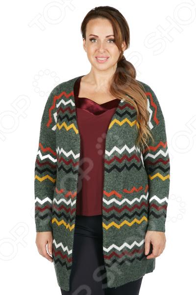 Кардиган Milana Style «Улла». Цвет: зеленый кардиган milana style milana style mi038ewvvy52