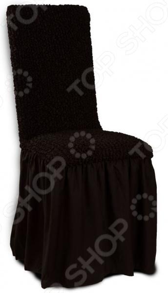 Натяжной чехол на стул Еврочехол Еврочехол «Микрофибра. Черный шоколад»