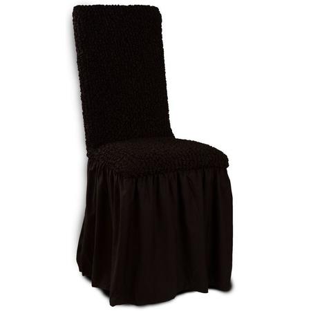 Купить Натяжной чехол на стул Еврочехол «Микрофибра. Черный шоколад»