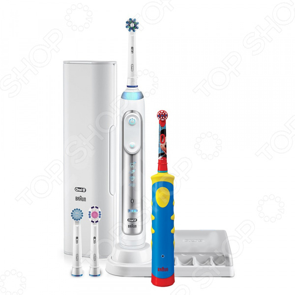 Набор электрических зубных щеток Braun Oral-B Genius 8000/D701 Mickey