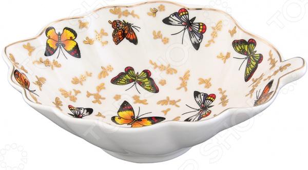 Конфетница-листок Elan Gallery «Бабочки» elan gallery конфетница бабочки