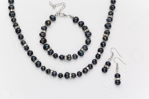 Комплект: серьги, бусы и браслет Bradex «Тайна Моря» u7 широкий браслет часов реального позолоченные моды мужчин украшения оптовой новой модной уникальный 1 5 см 20 см звено цепи браслеты