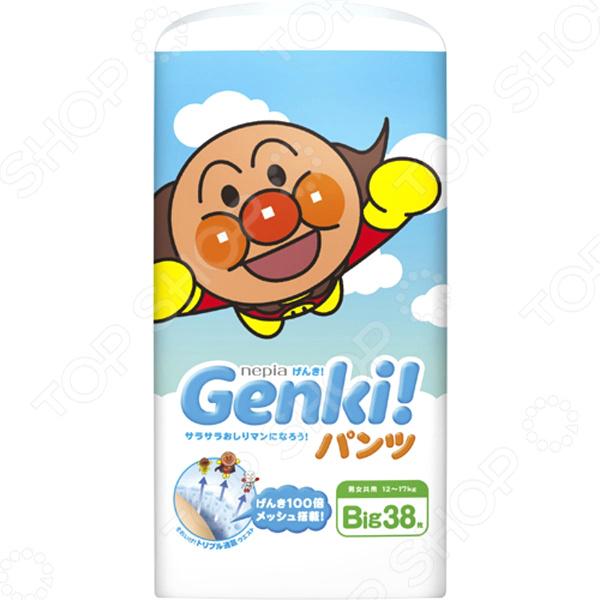 Трусики-подгузники Nepia Genki Big (12+ кг) genki подгузники трусики 7 10 кг 32 шт