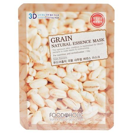 Купить Маска тканевая для лица FoodaHolic 3D с натуральным экстрактом зерновых культур