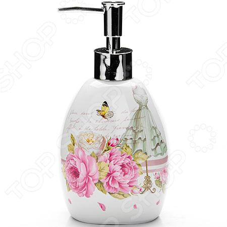 Диспенсер для мыла Loraine LR-26333 «Пионы»