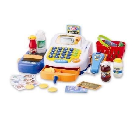 Купить Игрушка музыкальная Keenway «Набор-супермаркет: кассовый аппарат, микрофон, продукты»