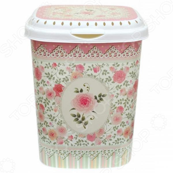 Zakazat.ru: Корзина для белья Violet «Чайная роза»