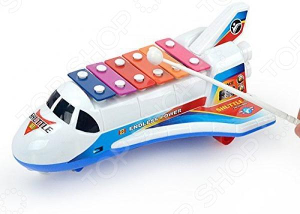 Ксилофон детский Наша Игрушка «Самолет». В ассортименте