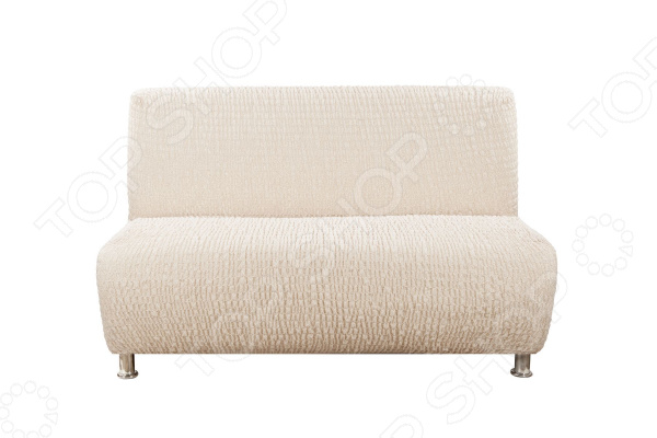 Фото - Натяжной чехол на двухместный диван безподлокотников Еврочехол «Сиена Венера» натяжной чехол на стул еврочехол еврочехол микрофибра ваниль