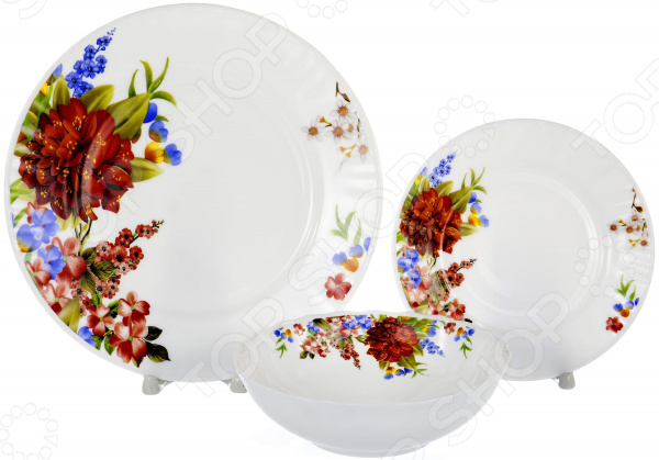Набор столовой посуды OlAff «Наранга». Количество предметов: 13 набор столовой посуды olaff алькор 13 предметов