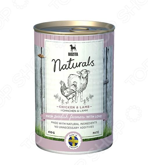 Корм консервированный для собак Bozita Naturals Pate Chicken & Lamb минеральные добавки серии северянка в москве