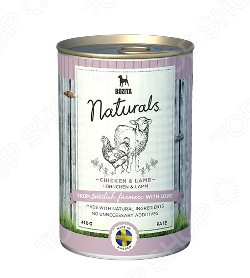 Корм консервированный для собак Bozita Naturals Pate Chicken & Lamb