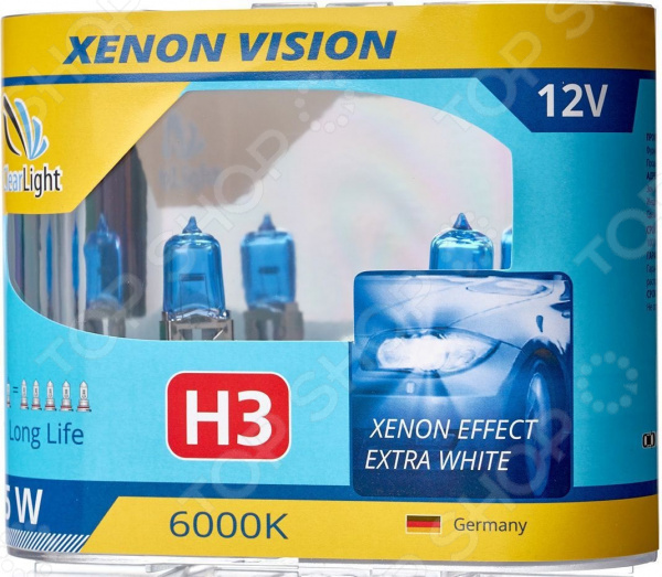 Комплект автоламп галогенных ClearLight XenonVision H3 12V-55W