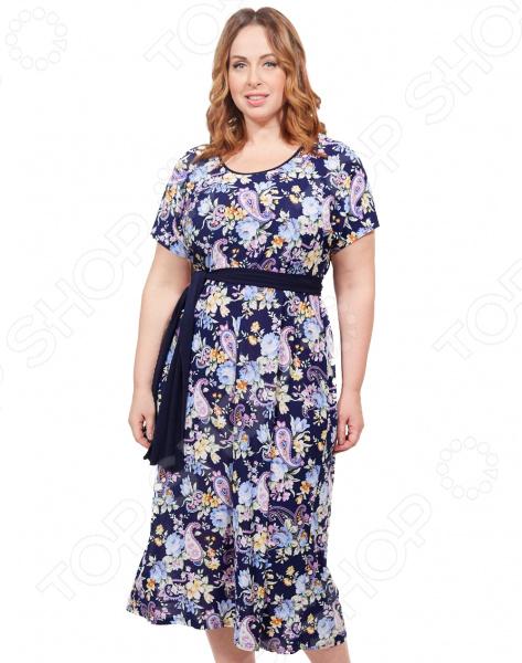 Платье Лауме-стиль «Ярина». Цвет: голубой платье лауме стиль райский сад цвет синий