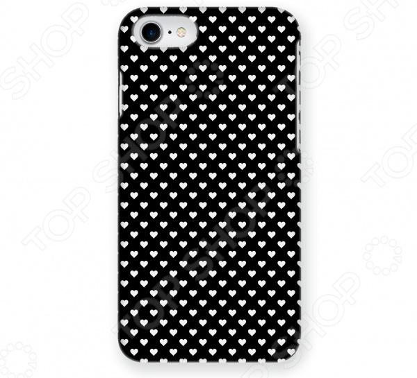Чехол для iPhone 5 Mitya Veselkov «Белые сердечки на черном» чехол для iphone 7 plus звездочки на черном ip7plus mitya 022 mitya veselkov