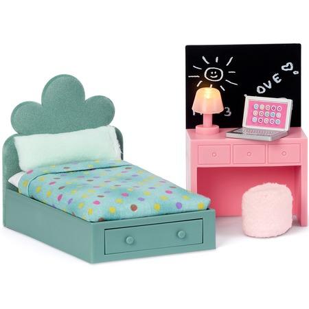 Купить Набор мебели для куклы Lundby «Кровать для подростка и компьютерный стол»