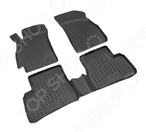 Комплект ковриков в салон автомобиля Novline-Autofamily Hyundai Ix55 2007. Цвет: бежевый - фото 5