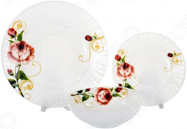 Набор столовой посуды OlAff «Конфетти». Количество предметов: 13 набор столовой посуды olaff алькор 13 предметов