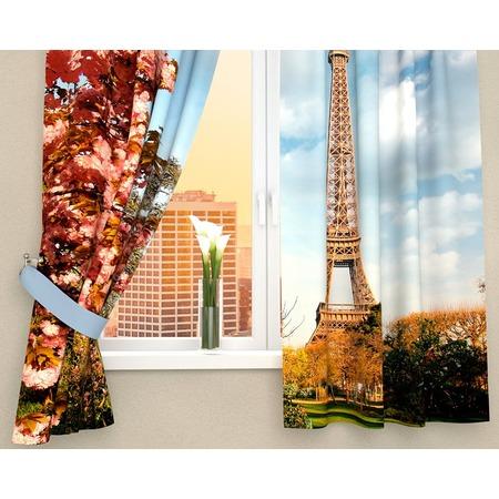 Купить Фотошторы Сирень «Цветущий Париж»