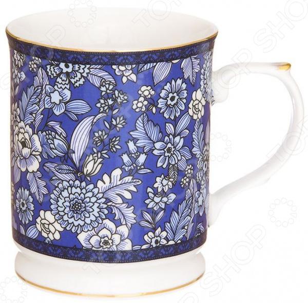 Кружка Elan Gallery «Цветы на синем» 730647