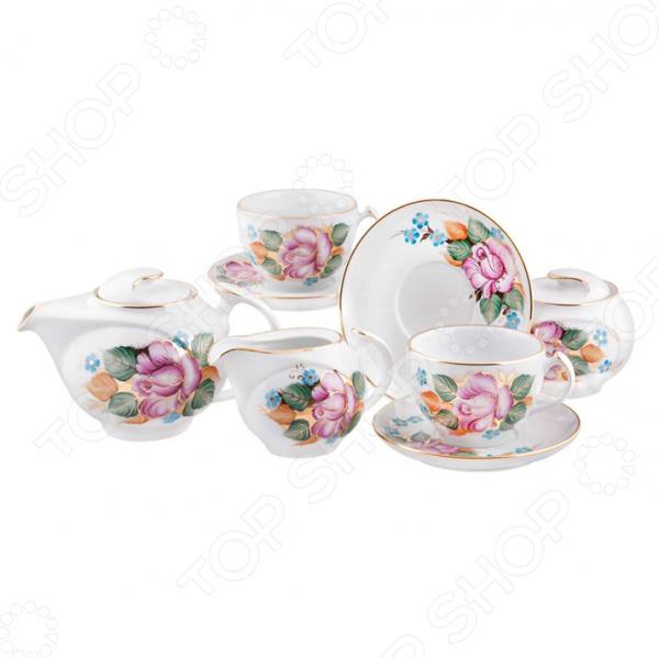 Чайный сервиз «Розалия». Количество предметов: 15 шт