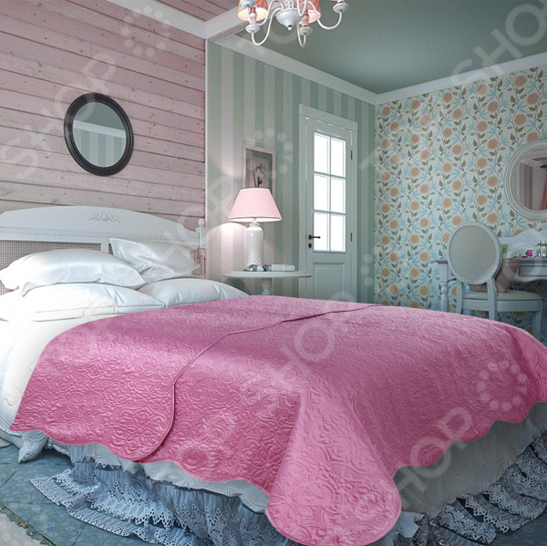 Покрывало Amore Mio WX Trire. Цвет: темно-розовый покрывала amore mio покрывало amore mio trire евро 2240х240 темно розовое