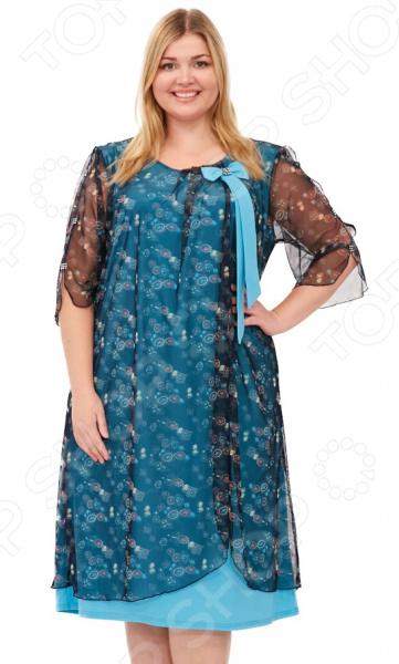 Платье Laura Amatti «Первое свидание». Цвет: бирюзовый