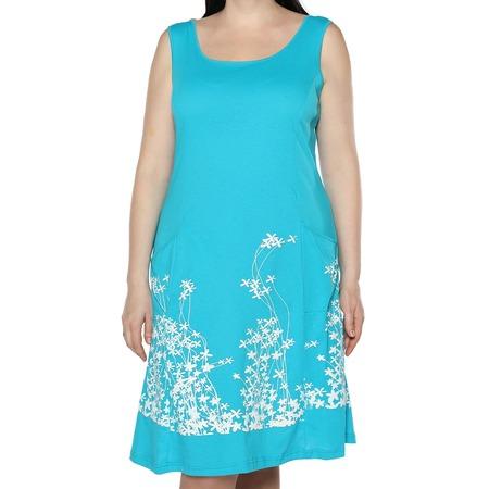 Купить Платье Алтекс «Цветущий сад». Цвет: бирюзовый