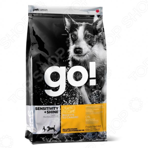 Корм сухой для щенков и собак Go! Sensitivity Plus Shine. Duck Recipe