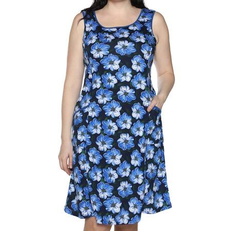 Купить Платье Алтекс «Изобилие цветов». Цвет: васильковый
