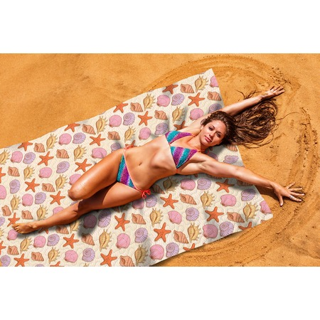 Купить Покрывало пляжное Сирень «Ракушки»