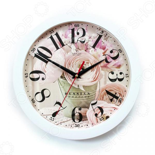 Часы настенные Вега П 1-7/7-274 «Нежные розы»