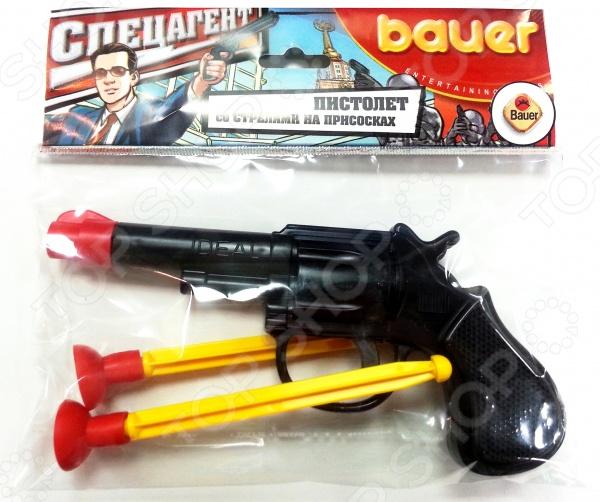 с тремя стрелами на присосках «Спецагент» Пистолет игрушечный малый Bauer «Спецагент»
