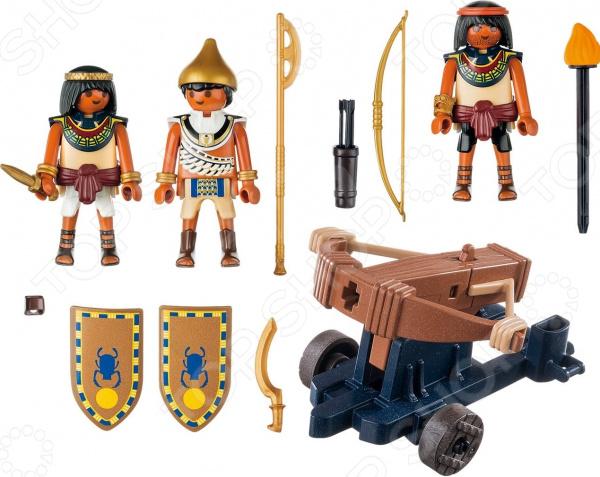 Игровой набор Playmobil «Римляне и Египтяне: Египетский солдат с Баллистой» playmobil игровой набор римляне и египтяне римское войско