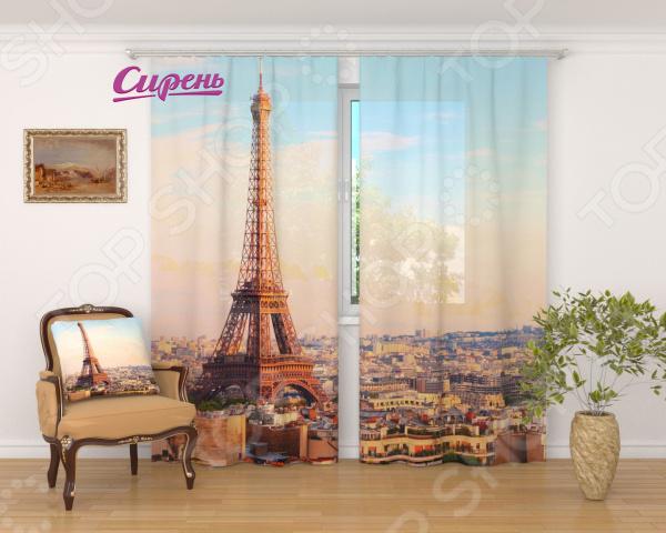 Фототюль Сирень «Просыпающийся Париж» фототюль сирень красный мост