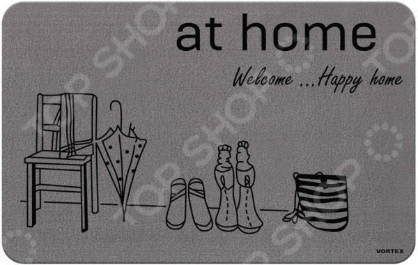 Коврик придверный Vortex «Счастливый дом»