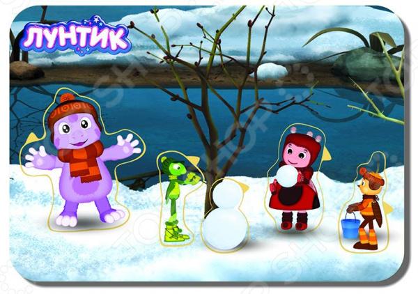 Игра развивающая WoodLand «Рамка-вкладыш: Лунтик 6» лунтик развивающий набор лунтик фантазер