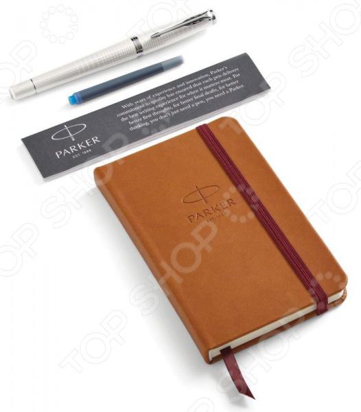 Набор подарочный: ручка перьевая и блокнот Parker Urban Premium Pearl Metal CT